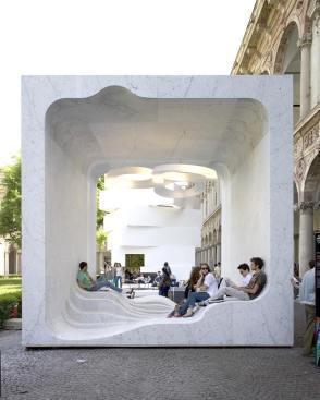 "Dubbed Zero Architects: Snøhetta @snohetta Location: ""Mutant Architecture and Design"" presentation for Interni Magazine at Milan's 2011 Design Week Photo by Getty Images"