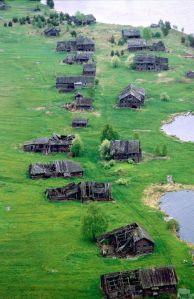 Villaggio abbandonato in Russia. Karelia, 2009