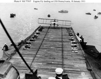 18 gennaio 1911 - Il primo atterraggio di un aereo su una nave