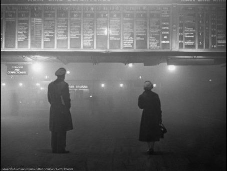 1959. nebbia londinese alla Liverpool St. Station