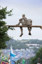 Anna Gillespie @ Glastonbury Festival 2013, made of recycled wood chips