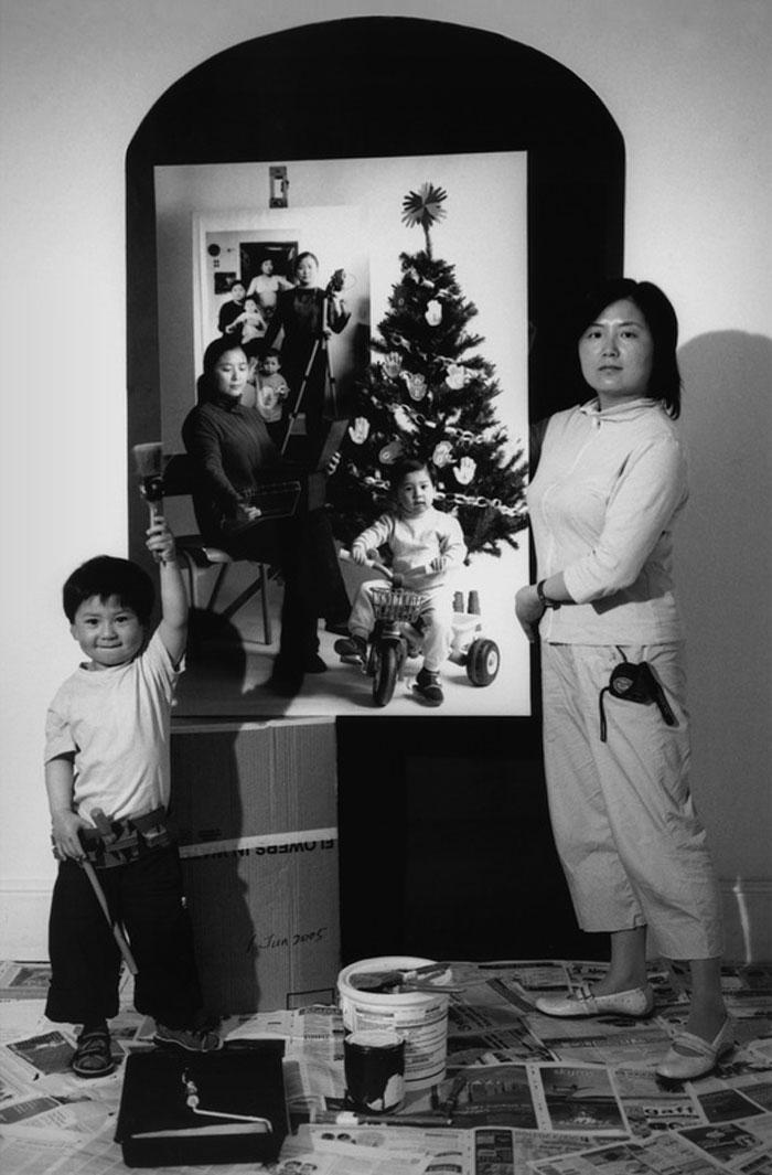 Annie Wang. In preparazione della mostra (2005)