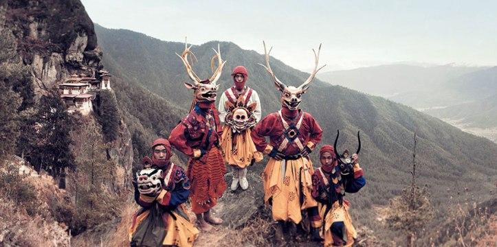 Ballerini mascherati, Paro, Bhutan