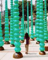 """Choi Jeong Hwa's """"Plastic Forest"""" in Seongbuk-dong"""