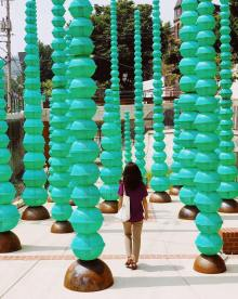 "Choi Jeong Hwa's ""Plastic Forest"" in Seongbuk-dong"
