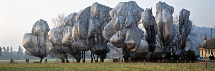 Christo and Jeanne-Claude. Wrapped Trees @ Fondation Beyeler and Berower Park, Riehen, Switzerland (1997-98)