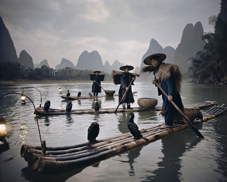 Cormorani di Yang Shuo, Cina. Fotografia di Jimmy Nelson