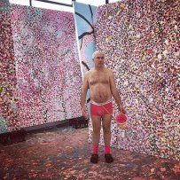 Damien Hirst in his studio