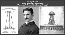 Il 18 gennaio 1902, Nikola Tesla brevettò un trasmettitore ingranditore per la trasmissione wireless di energia elettrica