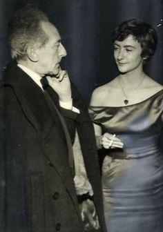 Jean Cocteau and Françoise Sagan. Anni '50