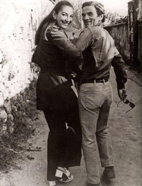 Maria Callas e Pier Paolo Pasolini. Settembre 1970