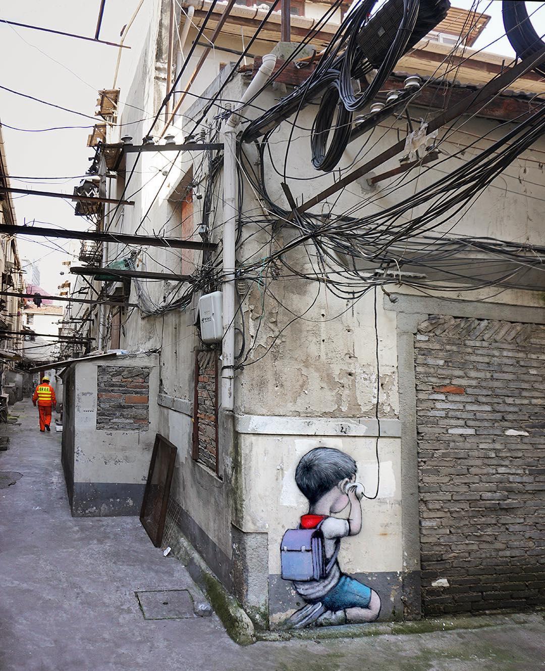 """Social Media"" by Seth Globepainter @Shanghai, China"