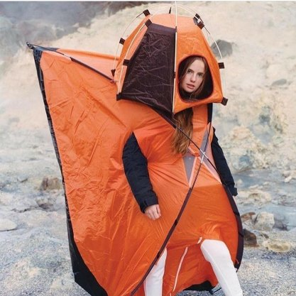 Tenda da campeggio umana
