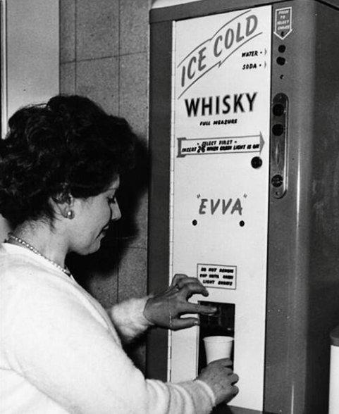 Un distributore di whisky, 1960