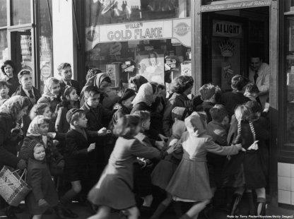 1953, finisce il razionamento in Gran Bretagna