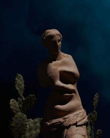 The Hallucinogenic Cacti (inspired by Dali). 3D sculpted by Arturo Rodriguez