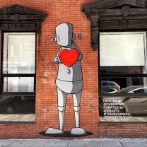 Streetart by Chris RWK in New York for The Ridge Wall