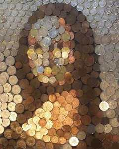 """Coin"" Monalisa portrait by Guy Hepner"