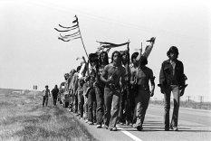 I nativi americani camminano da San Francisco a Washington, D.C. per i diritti civili degli Stati Uniti, 1978