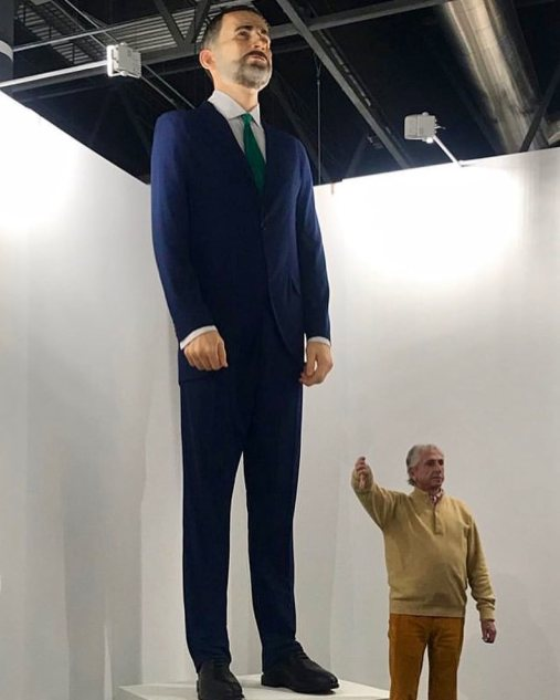 King Felipe VI by Santiago Serra @ ARCOmadrid 2019, Madrid, Spain