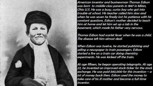 L'inventore e uomo d'affari americano Thomas Alva Edison