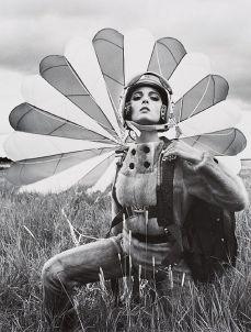 Mirella Petteni in a Saga Mink Jumpsuit, 1963   by F.C. Gundlach