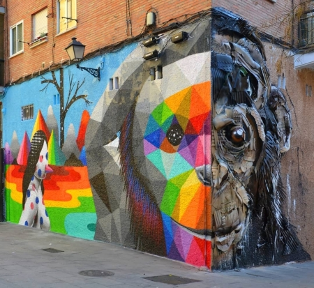 Okudart & Bordalo II @Madrid, Spain