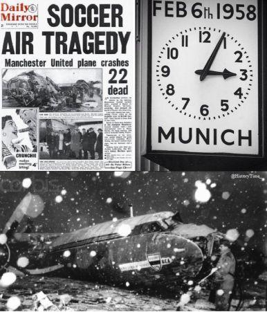 Otto giocatori del Manchester United morti in un incidente aereo il 6 febbraio 1958