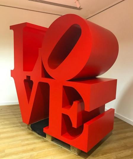 """LOVE"" sculpture by Robert Indiana"