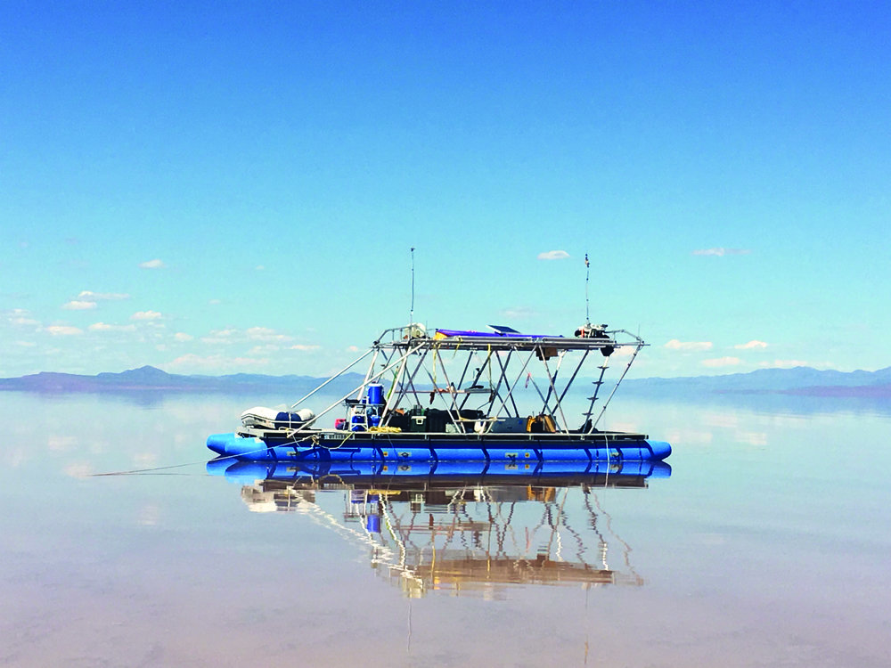 Steve Badgett and Chris Taylor, Terminal Lake Exploration Platform, 2019. Courtesy of Desert X