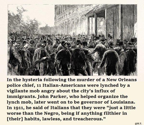 1891 a New Orleans. 11 italiani sono stati vittima di uno dei più grandi linciaggi multipli della storia americana