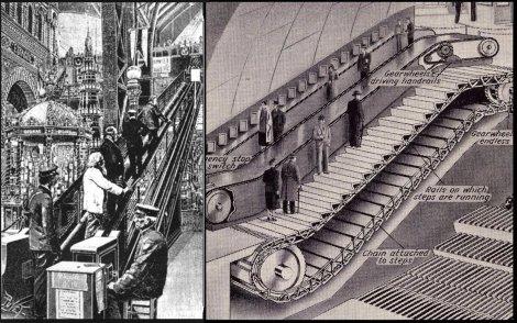 1892, Jessie Reno brevettò la scala mobile o ascensore inclinato come lo chiamava