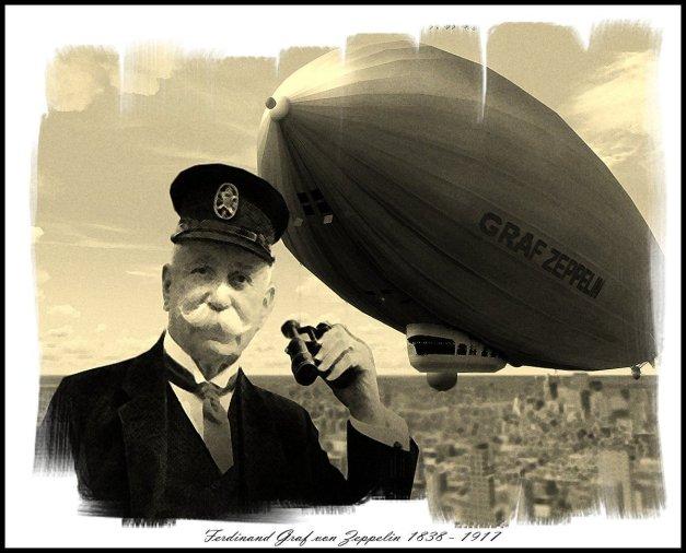 1895, il conte tedesco Ferdinand von Zeppelin brevetta il suo 'pallone navigabile', ovvero il dirigibile