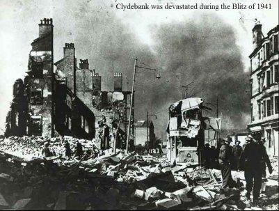 1941, pesanti incursioni aeree luftwaffe tedesche sulla città di Glasgow