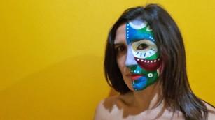 """Bozza della performance """"Le maschere non fanno paura"""" di Barbara Picci"""