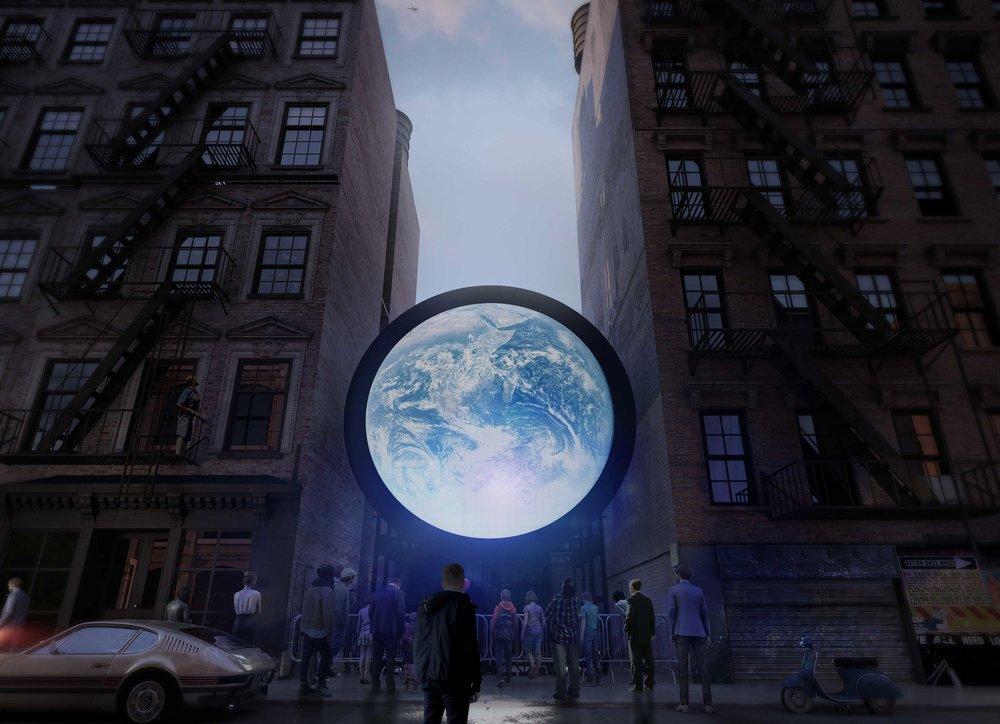 """Blue Marble"" by Sebastian Errazuriz @ New York"