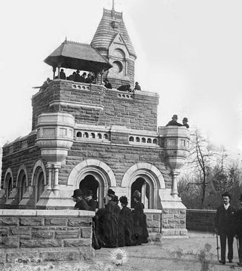 Castello del Belvedere a Central Park, New York, 1870