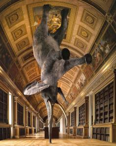 French artist Daniel Firman started his balancing Elephant series, named Nasutamanus, in 2008