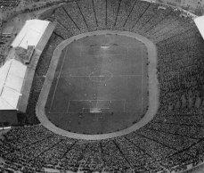Foto della partita East Fife contro Kilmarnock, la finale della Scottish Cup del 1938 a Hampden Park, con 93000 spettatori