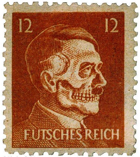Francobollo prodotto dal governo degli Stati Uniti come contraffazione di propaganda nella seconda guerra mondiale. 1942