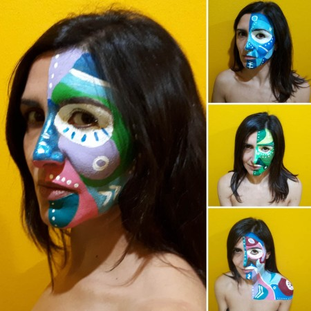 """Bozze della performance """"Le maschere non fanno paura"""" di Barbara Picci"""