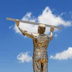 """Jan Fabre, """"L'uomo che misura le nuvole"""" (1998 – 2016) @ Museo Madre, Naples, Italy"""