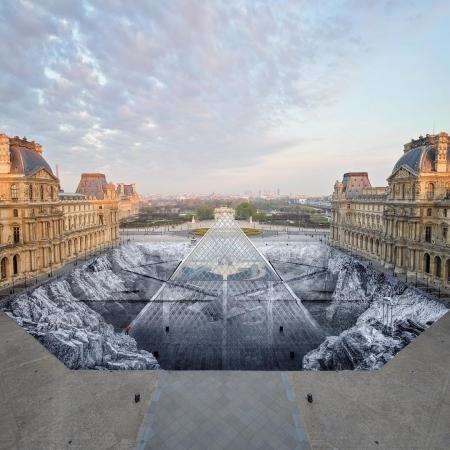 JR @Lovre, Parigi