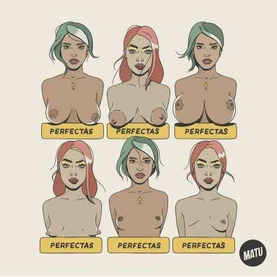 All women are perfect Illustrationby MATU SANTAMARIA