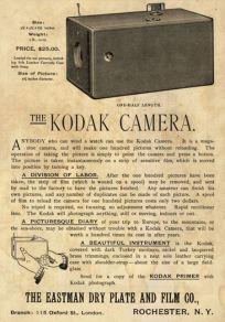 Pubblicità vintage della Kodak-camera