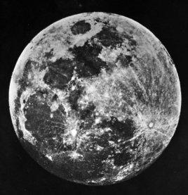 Una delle prime immagini della luna del Dr. J. W. Draper di New York, 1840