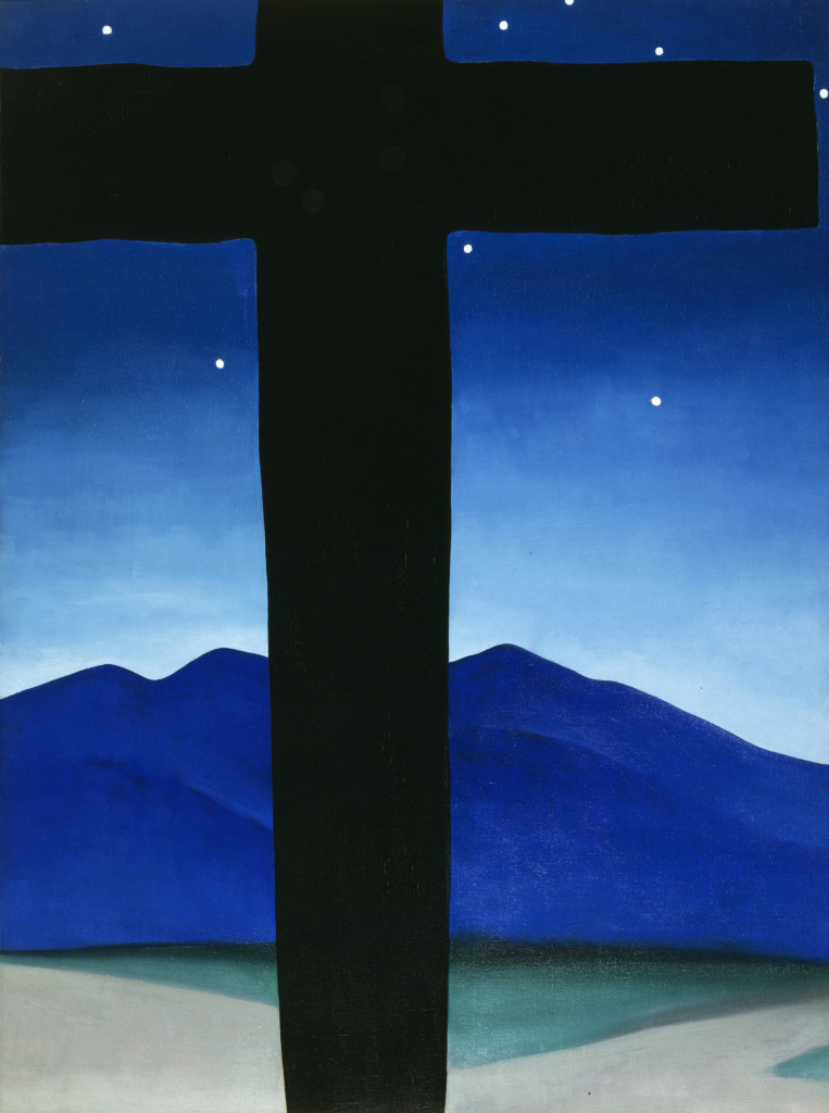 Black Cross with Stars and Blue c/o Georgia O'Keeffe Museum/DACS London