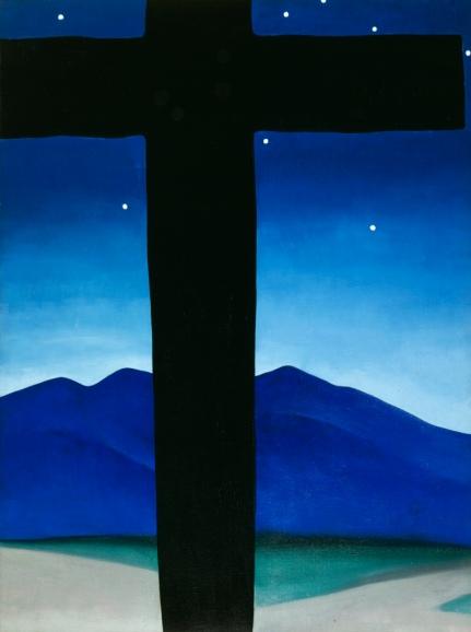 Black Cross with Stars and Blue c/o Georgia O'Keeffe Museum/DACS London