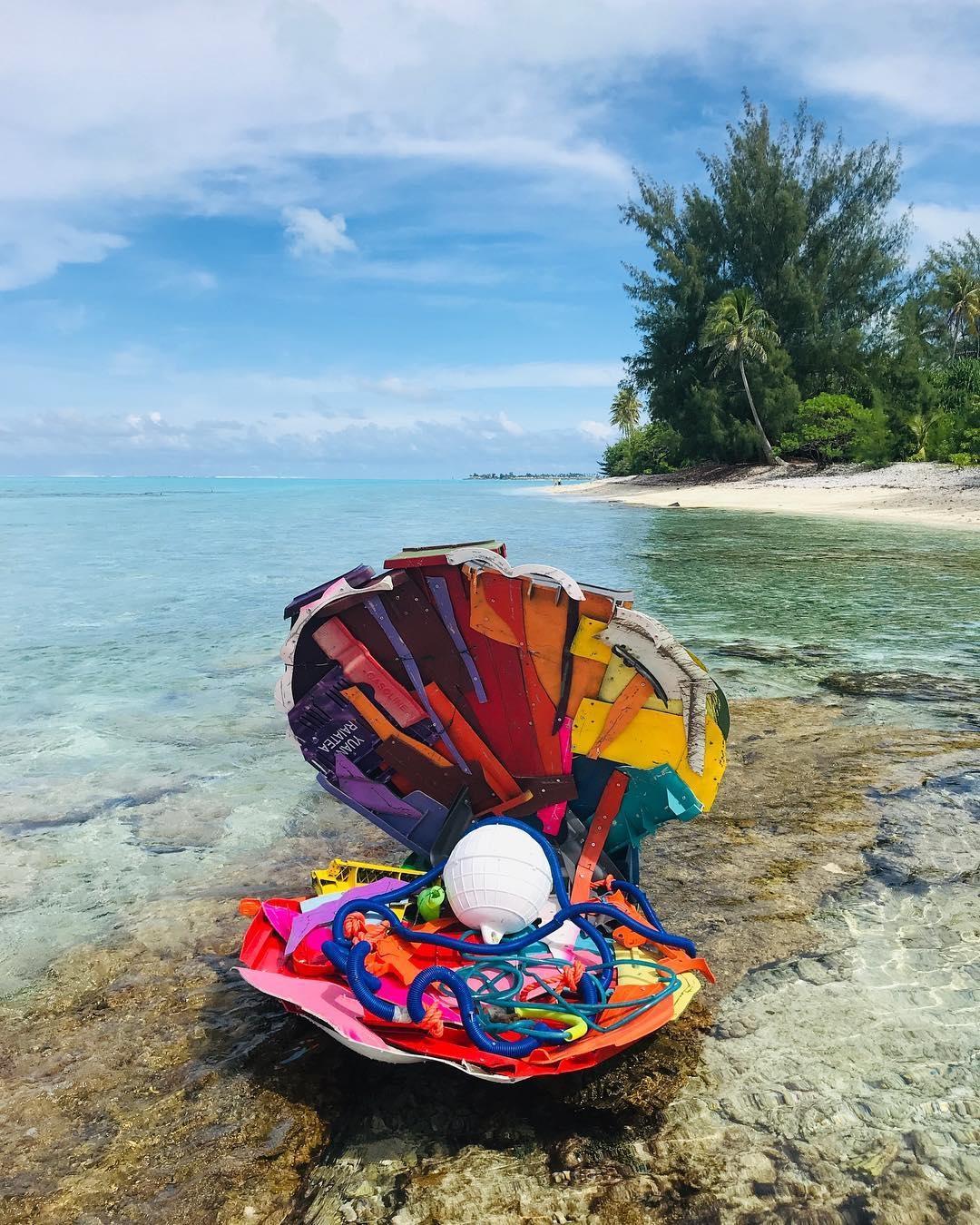 Bordalo II @Bora Bora, French Polynesia