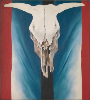 Cow's Skull: Red, White, and Blue, Georgia O'Keeffe